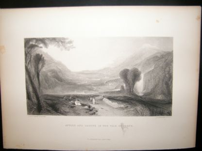 After Turner 1860 Antique Print, Apollo and Daphne in the Vale of Tempe | Albion Prints